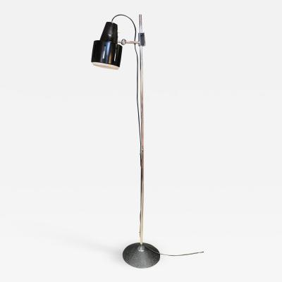 Articulating Chrome Floor Lamp Italy 1970s