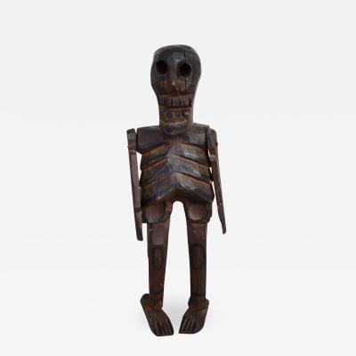 Articulating Wood Skeleton Santo