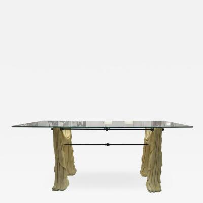 Artificial Stone and Glass Dining Table circa 1970