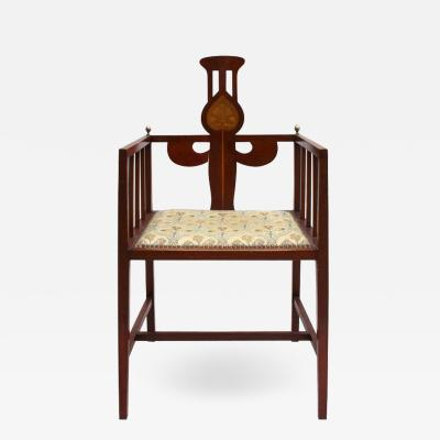 Arts Crafts Armchair by G M Ellwood Made by J S Henry