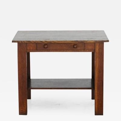 Arts Crafts Mission Style Oak Library Table
