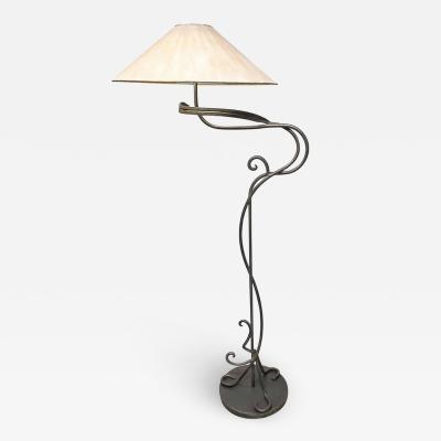 Arts and Crafts Hand Wrought Iron Floor Lamp