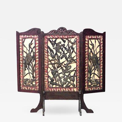Arts and Crafts Mahogany 3 Fold Screen