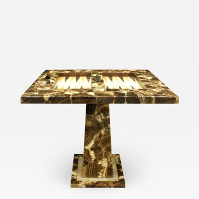 Arturo Pani Arturo Pani Exceptional Backgammon Table in Onyx 1960s