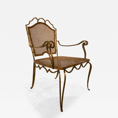 Arturo Pani Arturo Pani Mexican Gilt Wrought Iron Armchair