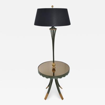 Arturo Pani Arturo Pani Refined Elegance Floor Lamp with Scalloped Table Mexico City 1940s