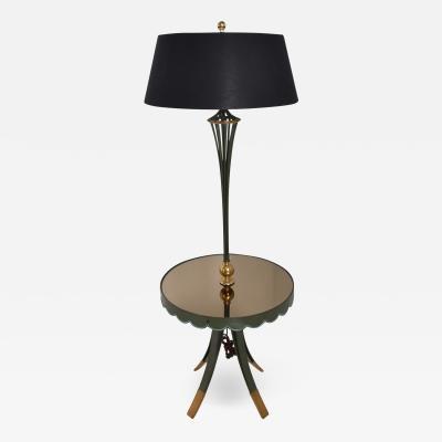 Arturo Pani Arturo Pani Scalloped Floor Lamp with Table 1940s