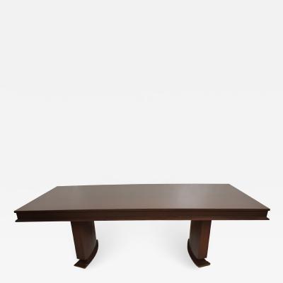 Arturo Pani Custom Mid Century Mexican Modernist Arturo Pani Mahogany Dining Table