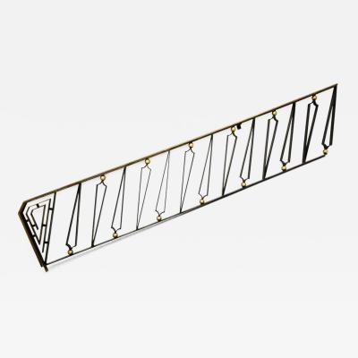 Arturo Pani Mexican Modernist Hand Forged Gilded Iron Staircase Handrail by Arturo Pani