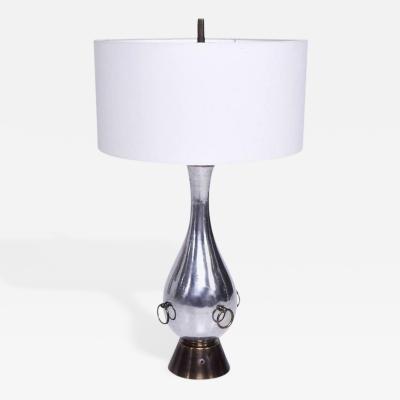 Arturo Pani Mexican Modernist Table Lamp Aluminium and Brass Attributed Arturo Pani