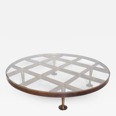 Arturo Pani Mid Century Mexican Modernist Arturo Pani Coffee Table in Bronze