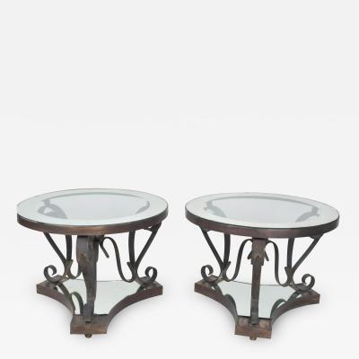 Arturo Pani Midcentury Mexican Modernist ARTURO PANI Bronze Iron Side Tables