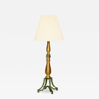 Arturo Pani Sophisticated Tall Table Lamp by Arturo Pani Mexico 1950s Aged Iron and Brass