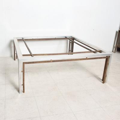 Arturo Pani Square Cocktail Table Modular design in Bronze and Aluminum Arturo Pani 1960s