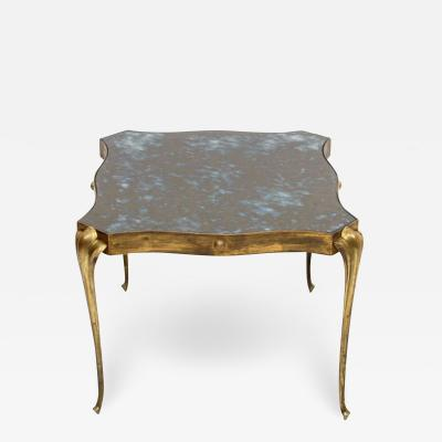 Arturo Pani Style Arturo Pani Elegant Side Table in Brass Modern Regency Mexico 1950s