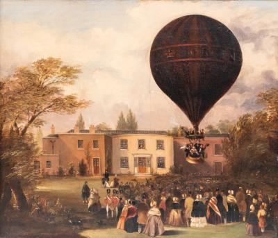 Ascent of Charles Green s Nassau Balloon from Cremorne House Chelsea