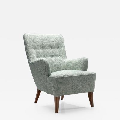 Ash Wood Danish Cabinetmaker Easy Chair Denmark ca 1950s