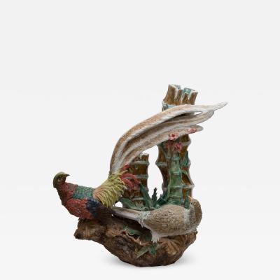 Asian Ceramic Figure of Pheasants