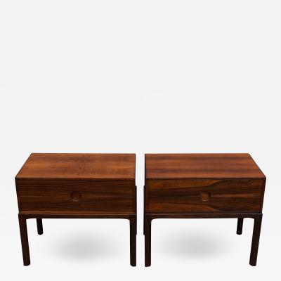 Askel Kjersgaard Askel Kjersgaard Rosewood Nightstands for Odder