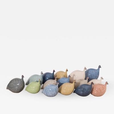 Assorted Ceramic Guinea Hens