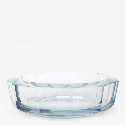 Asta Stromberg DIAMOND CUT GLASS DISH BY STR MBERG SWEDEN DESIGNED BY ASTE STROMBERG CIRCA 1950