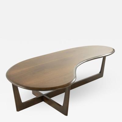 Asymmetric Mid Century Modern Walnut Coffee Table