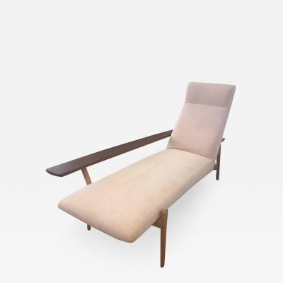 Asymmetric Scandinavian Chaise Longue 1980s