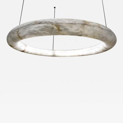 Atelier Alain Ellouz Alabaster Oslo Cable Pendant Light by Atelier Alain Ellouz