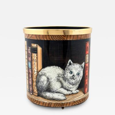 Atelier Fornasetti Fornasetti Metal Waste Paper Can