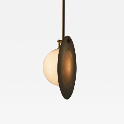 Atelier George Eclipse Pendant Light in Blown Glass and Brass