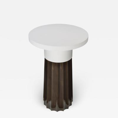 Atelier Linn Issey side table in lacquer and oak