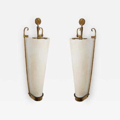 Atelier Petitot Important Pair of Sconces by PETITOT 1930