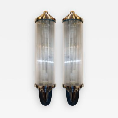 Atelier Petitot Pair of Modernist French Art Deco Wall Lights Attributed to Petitot