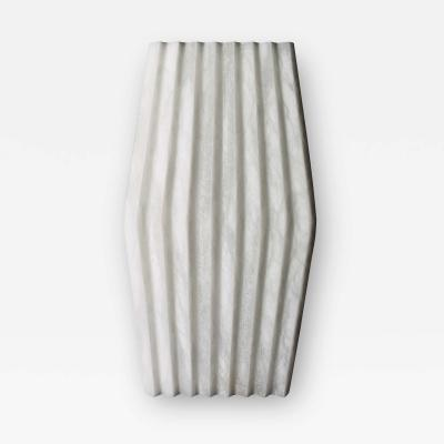 Atelier Terrai Bespoke Minimalist Italian Neoclassical White Alabaster Geometric Modern Sconce