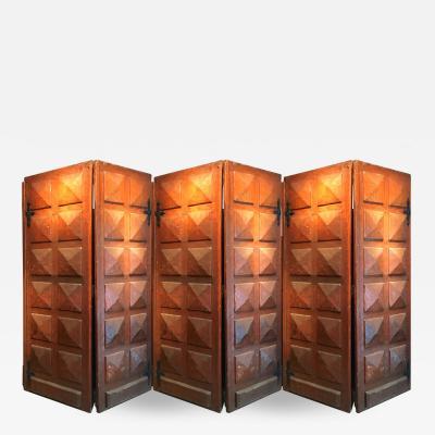Atelier de Marolles Marolles style a la Gouge spectacular large 6 decorative door panels