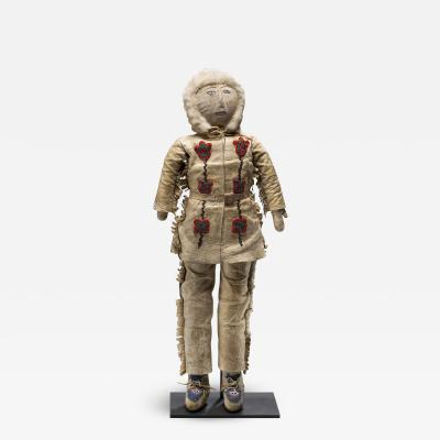 Athabascan Hide Beaded Doll