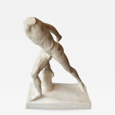 Athlete body in plaster France late 19th century