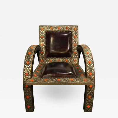 Atlas Showroom Armchair Royal Style Camel Bone