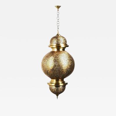 Atlas Showroom Ball Shaped Large Moroccan Filigree Brass Chandelier