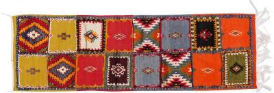 Atlas Showroom Berber Moroccan Tribal Multicolor Wool Runner Rug