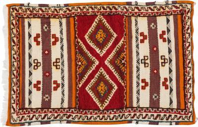 Atlas Showroom Berber Rug Diamond like Design in Handwoven Wool