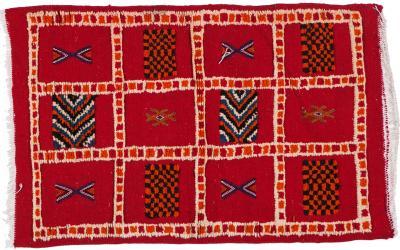 Atlas Showroom Berber Rug Distinctive Colorful Panels Natural Dye