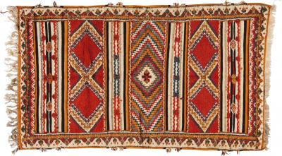 Atlas Showroom Berber Rug Handwoven Wool With Abstract Diamond Patterns