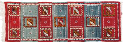 Atlas Showroom Berber Rug Runner with Abstract and Geometric Patterns Handwoven