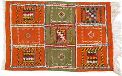 Atlas Showroom Berber Rug Small with Abstract Elements on Panels