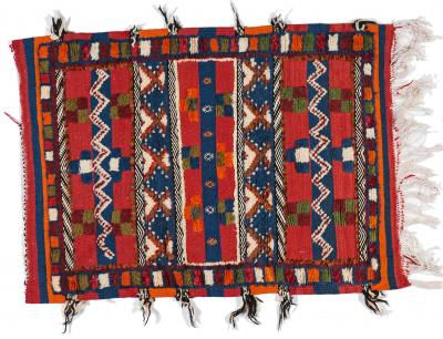 Atlas Showroom Berber Rug Small with Colorful Handwoven Designs