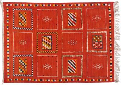 Atlas Showroom Berber Tribal Medium Rug Handwoven Wool with Organic Dye