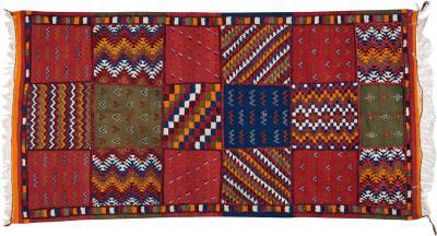 Atlas Showroom Berber Tribal Moroccan Handwoven Wool Rug