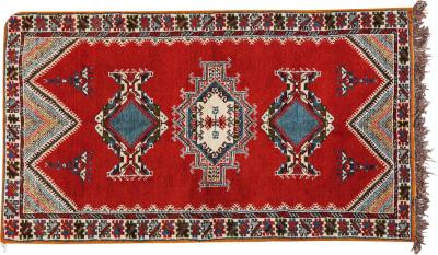 Atlas Showroom Berber Tribal Red Wool Rug