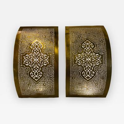 Atlas Showroom Brass Wall Sconces or Lanterns Modern Moroccan Design